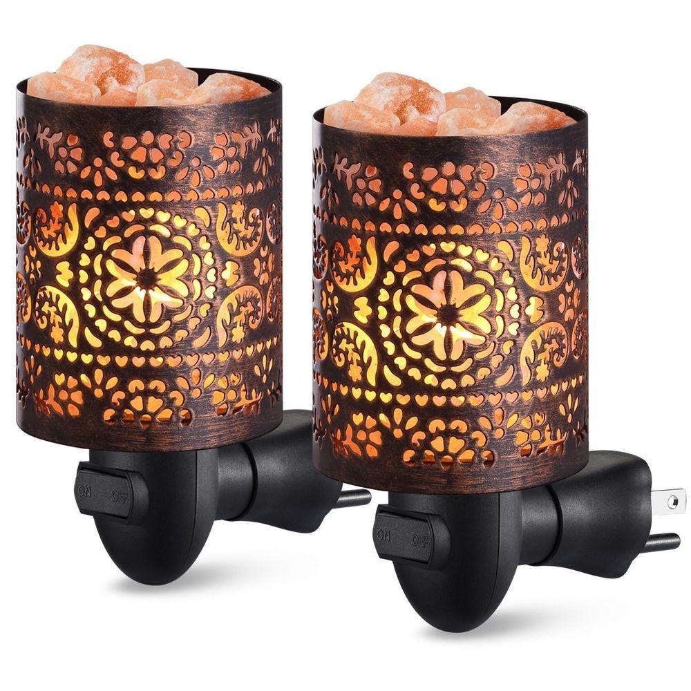 Pack of 2 Salt Crystal Natural Himalayan Salt Rock Lamp
