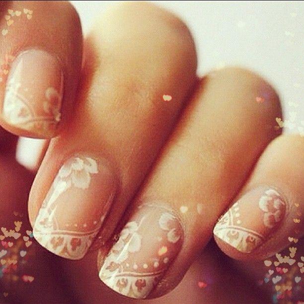 #lace #nailart #inpiration  #feminine #delicate #nailstyle - @alimonadashop- #webstagram
