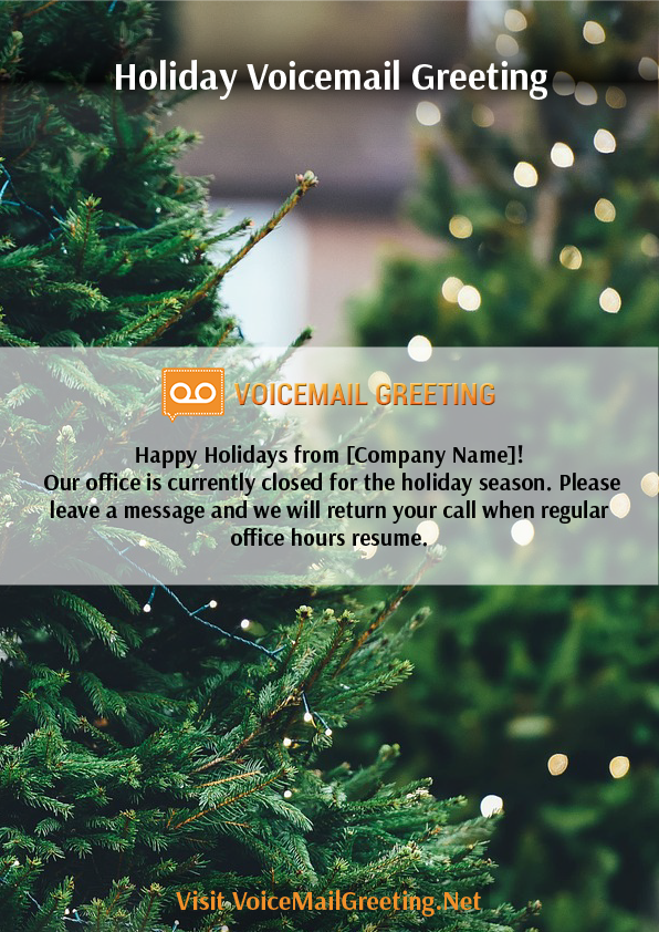 Holiday voicemail greeting when you have a holiday you should let holiday voicemail greeting when you have a holiday you should let your customers know by leaving m4hsunfo