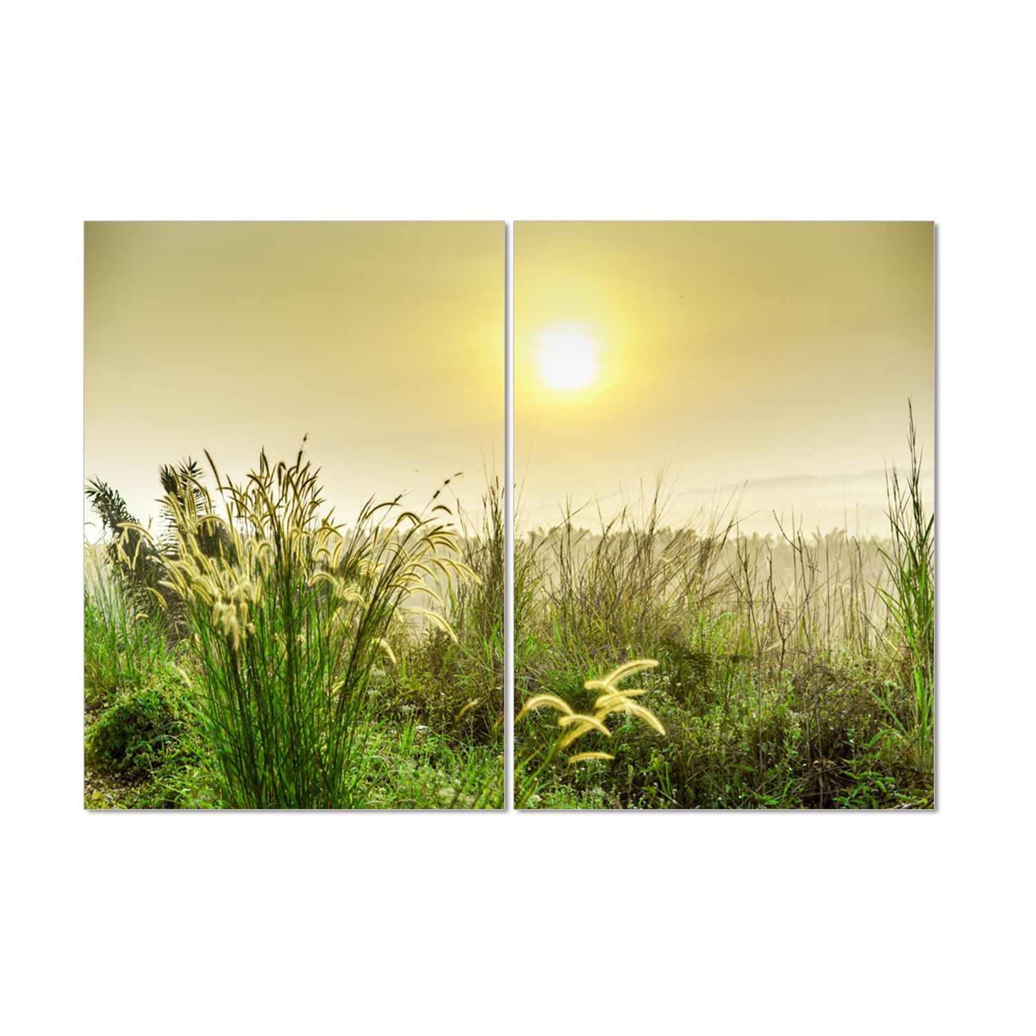 Furinno Framed \'Seni Morning Scenery\' MDF and Vinyl 40-inch 27.5 ...