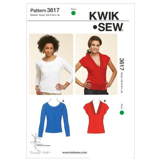 Mccall Pattern K3617 Xs-S-M-L-X-Kwik Sew Pattern | Sewing | Pinterest