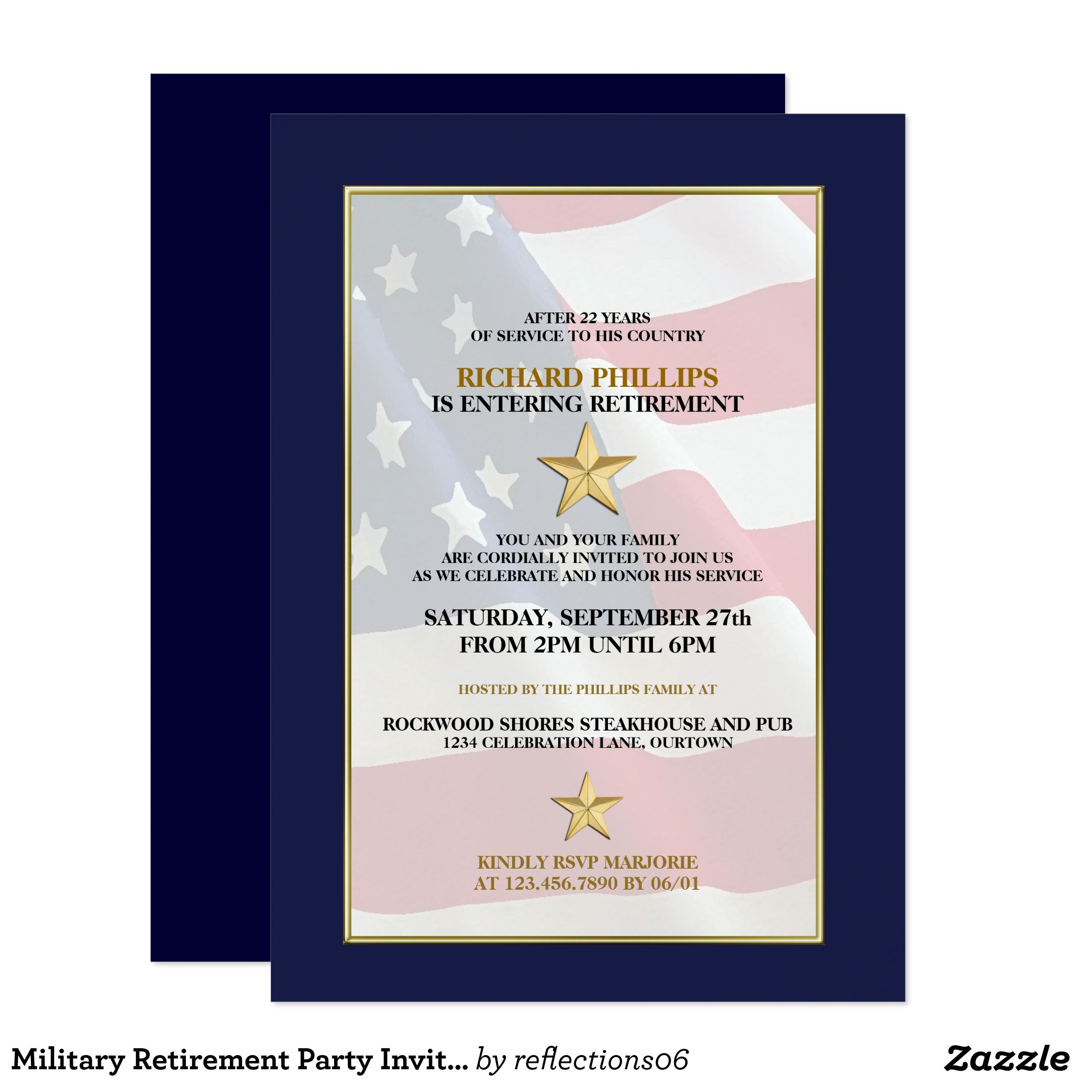 Military Retirement Party Invitations  Retirement Military