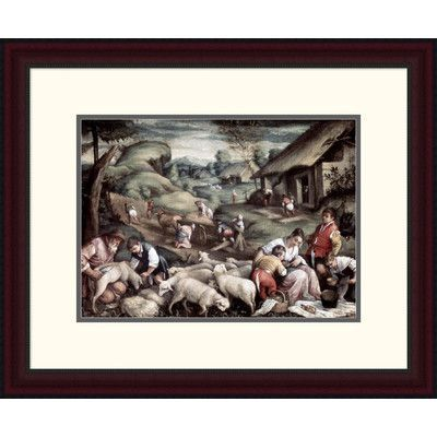 "Global Gallery 'Summer' by Francesco Bassano II Framed Painting Print Size: 19.55"" H x 24"" W x 1.5"" D"