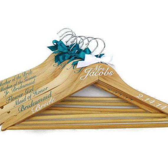 Wedding Decoration Personalized Vinyl STICKER For Wooden Hanger DIY Accessory