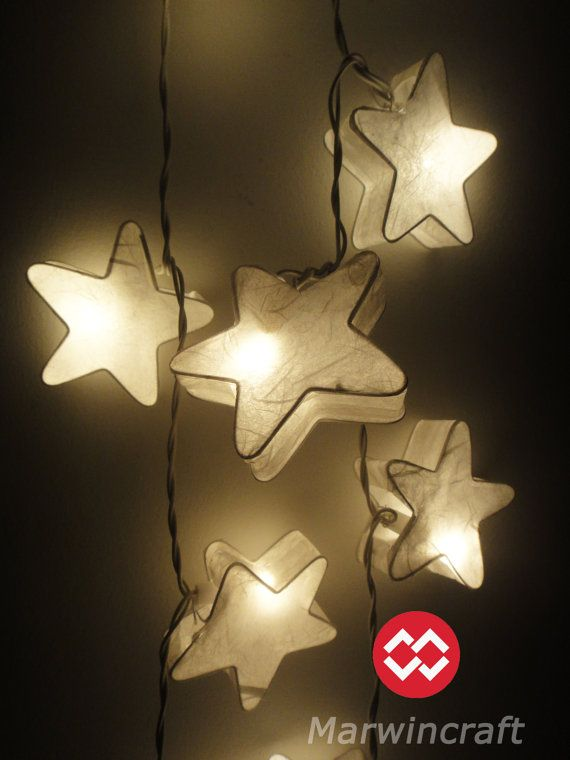 Amazing 20 White Stars LANTERN Paper Handmade Fairy String Lights Party Patio  Wedding Floor Table Or Hanging