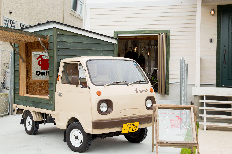 軽トラックの荷台に積めちゃう移動型のカワイイ 小屋 Bino Bino