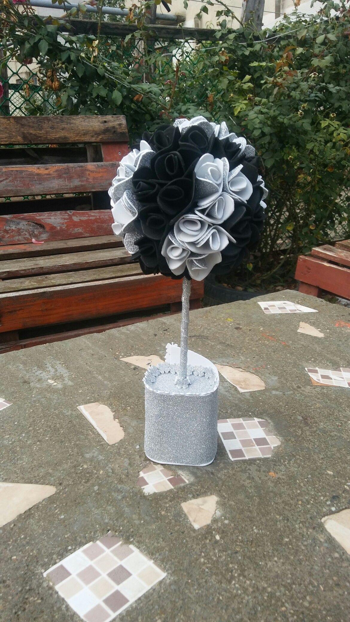 Dekorativno drvo cveće od papira