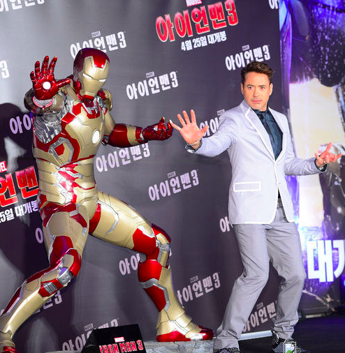 Robert Downey Jr Iron Man 3 Press Conference In Seoul South Korea 4 April 2013 Robert Downey Jr Iron Man Captain America Iron Man 3