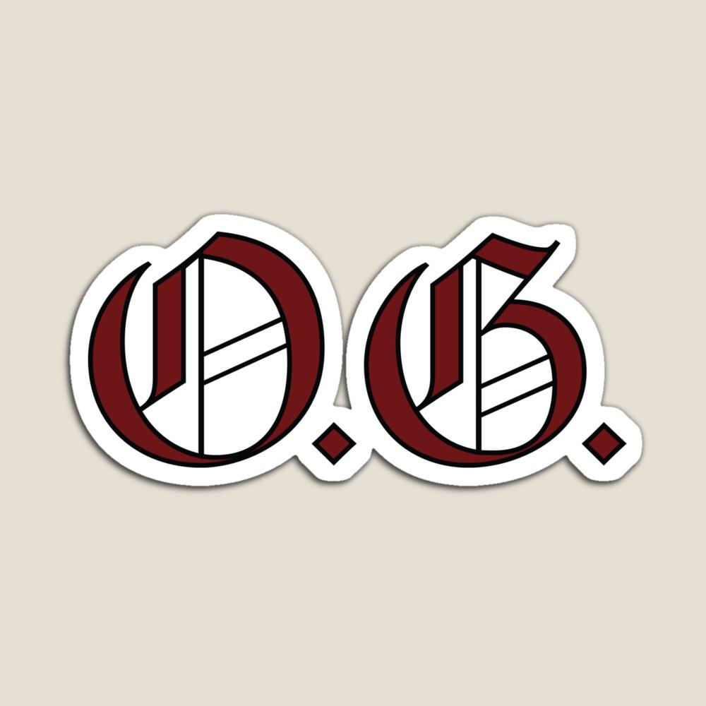 90s Slang O G Magnet Redbubble Retail Logos 90s Slang 90s