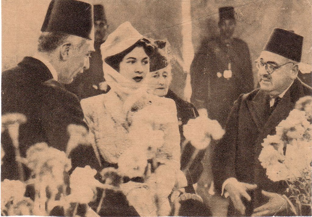 Hm Queen Farida During On An Official Visit Egyptian History Modern Egypt Old Egypt