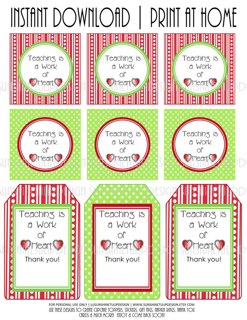 Sweet teacher appreciation large tags cupcake toppers print at sweet teacher appreciation large tags cupcake toppers print at home printables teaching is negle Gallery
