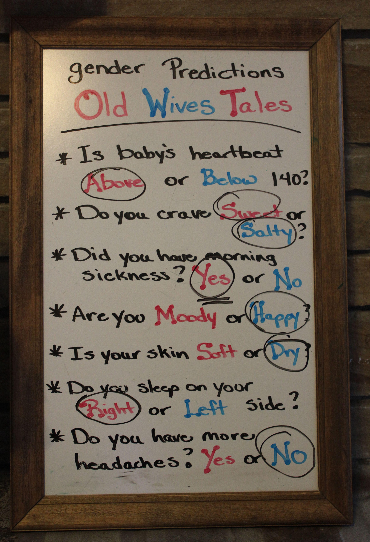 Old Wives Tales Gender Predictor Baby Gender Reveal Party Baby Gender Reveal Gender Reveal Party
