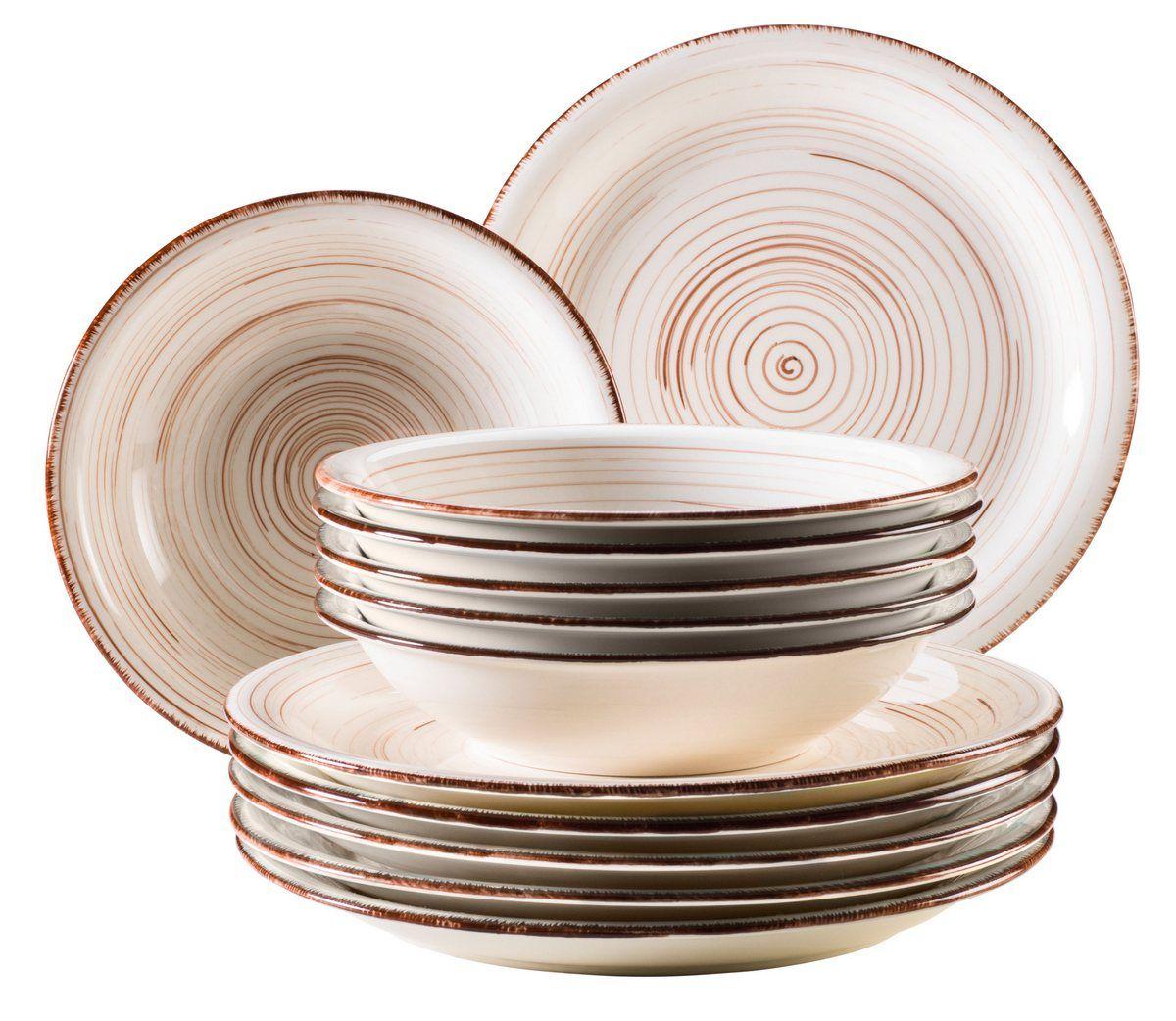 MÄSER Set Tafelservice, Keramik »BEL TEMPO« 12teilig