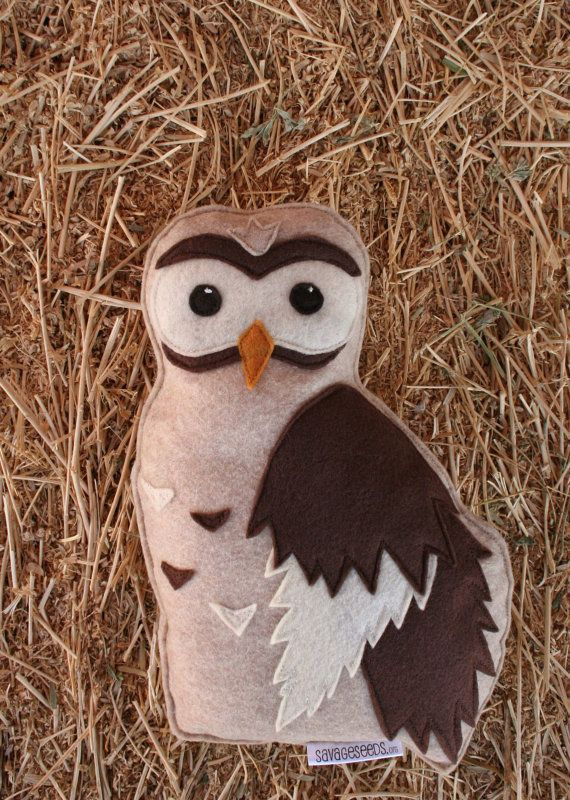 Forest Critters Owl with Owlet Eco Friendly par SavageSeeds sur Etsy, $34.00