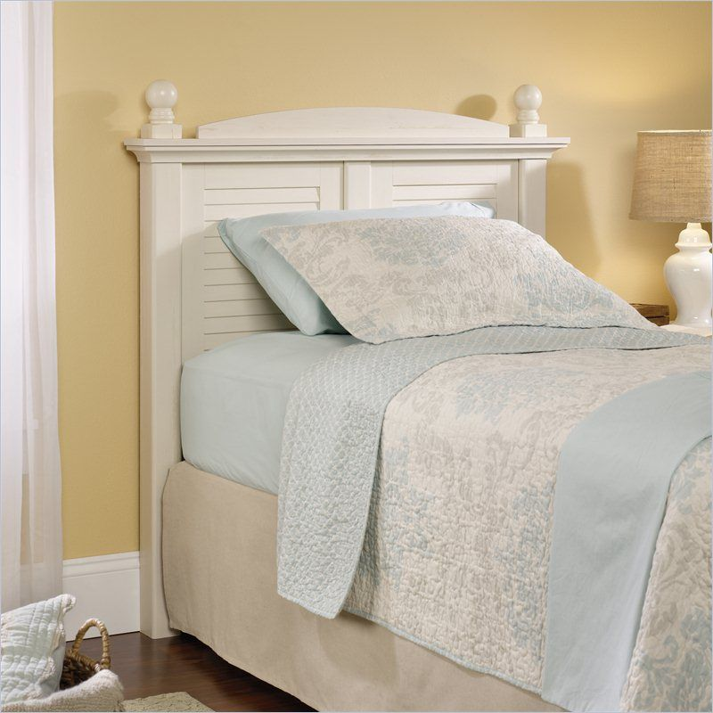 Antique Twin Headboard White Color With 2 Pillow | Headboards ...