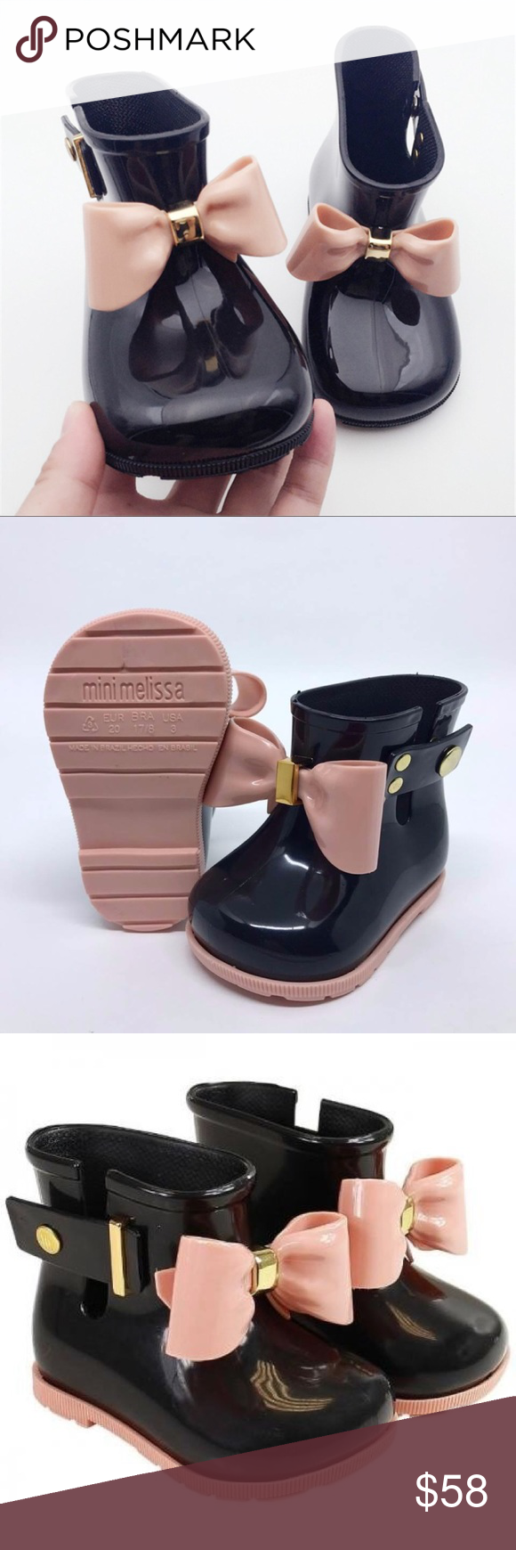 1de8bb2c7b31 Like New mini melissa sugar rainbow boot UST6 EU21 Like new mini melissa  sugar rainbow boot. Protect her feet while she plays with Mini Melissa s  rubber ...