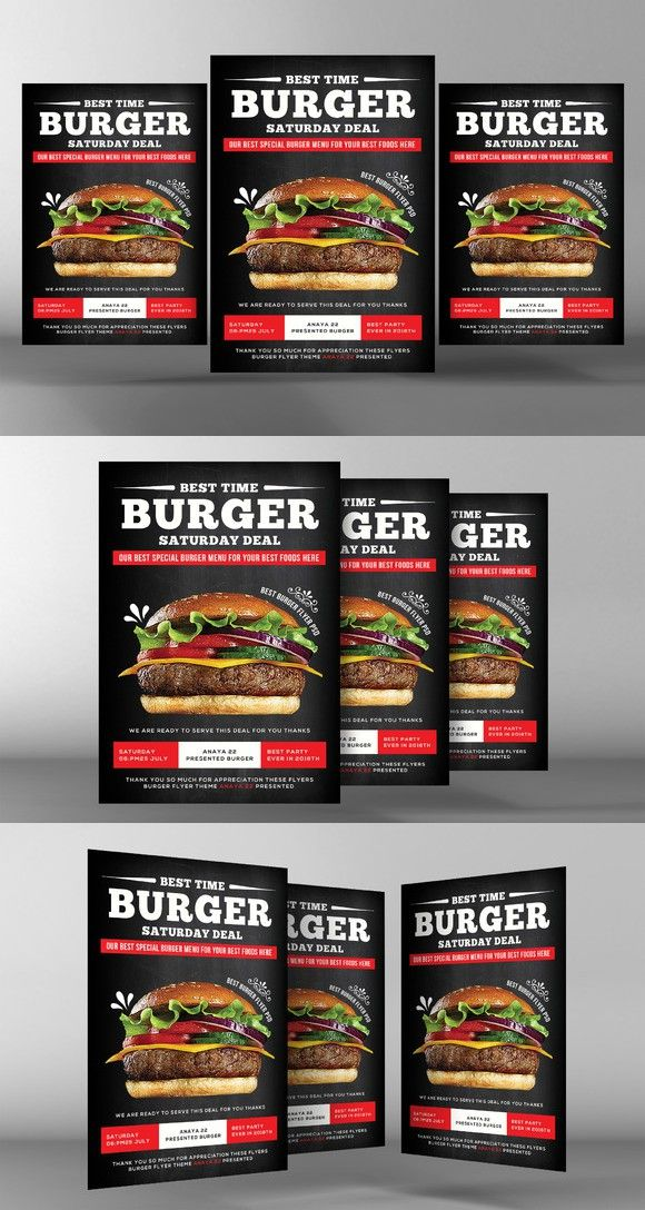 Big Burger Offer Flyer Template Flyer Templates Flyer Templates