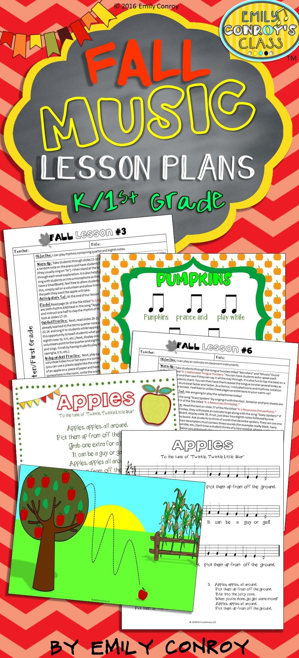 Lessons For Music Fall Music Lesson Plans For KSt Grades