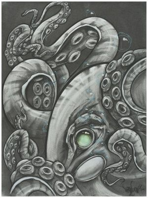 Gallery For Realistic Octopus Drawing