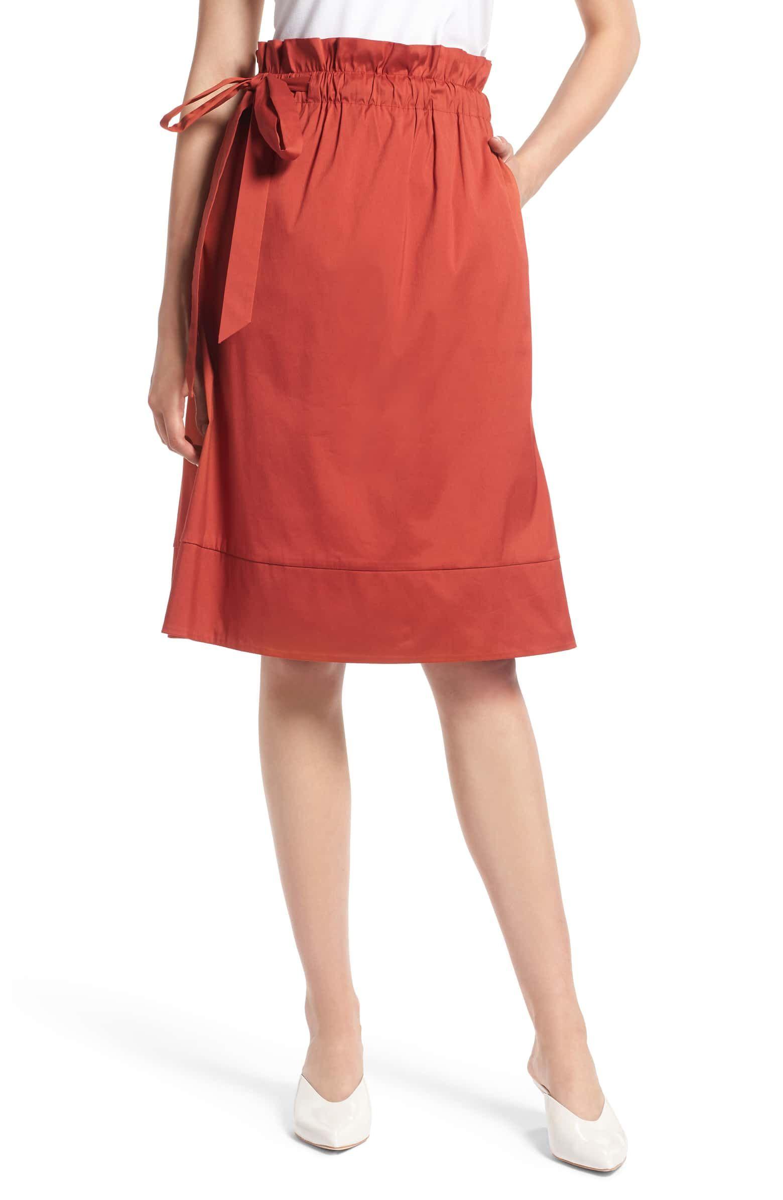 Petite rust skirt #7