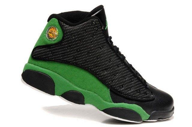 sale retailer ecbcb 9a82e Original Herren Nike Jordan Retro 13 Schuhe schwarz grün weiß