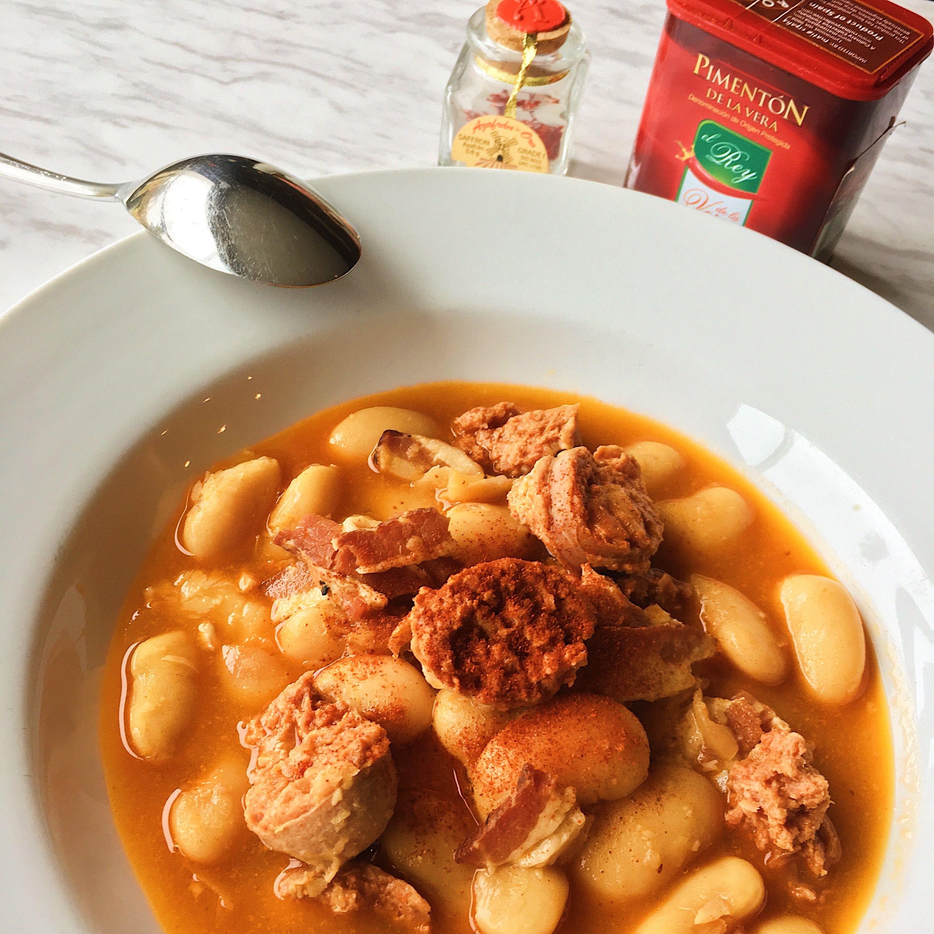 Spanish Fava Bean And Pork Stew Fabada Asturiana Culinary Collective Recipe Pork Stew Fava Beans Stew