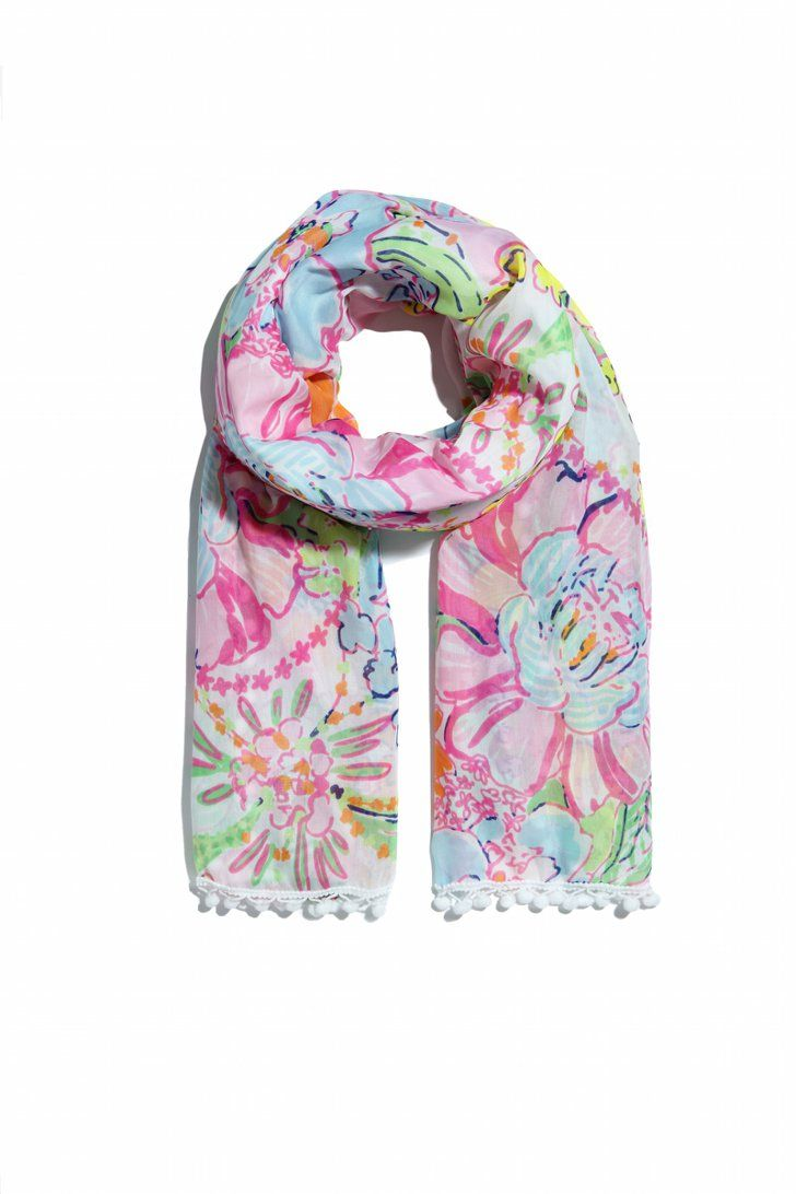 ef116d1288823f Lilly Pulitzer For Target Is Here | All Things Style | Pompom scarf ...
