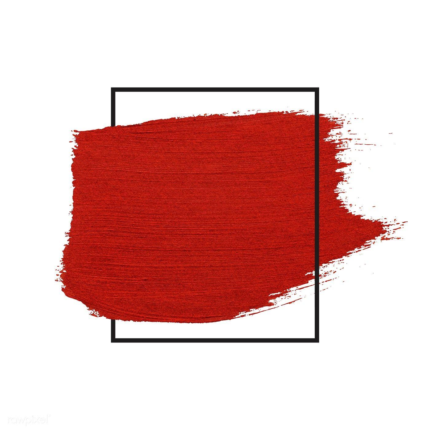 Download Premium Vector Of Red Brush Stroke Badge Vector 552330 Brush Strokes Wattpad Background Iphone Wallpaper Fall