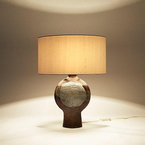 Pied De Lampe Ceramique Emaillee Galerie Riviera 92 Rue Des