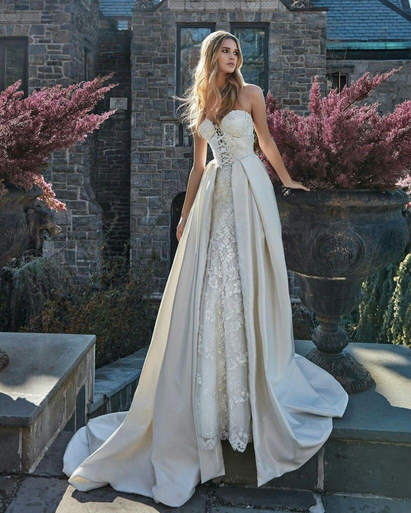 565f7fc6046 Guerlain gown + Abi corset-like-overskirt. LeSecretRoyal Collection by  Galia Lahav Haute Couture