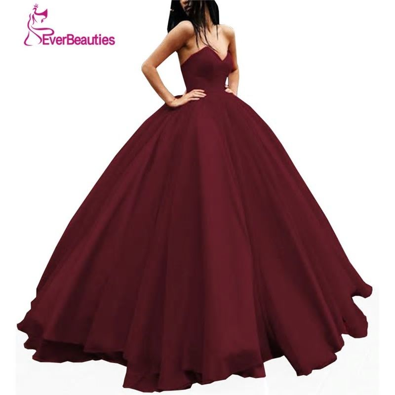 6e3ddfeea0 Elegant Evening Dress Long Tulle Women's Ball Gown Sweetheart Prom ...