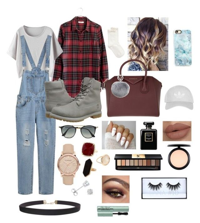 """""""flannel days"""" by berkeleys12 on Polyvore featuring Madewell, Timberland, Hue, Givenchy, Adrienne Landau, Ray-Ban, Topshop, Casetify, Burberry and Humble Chic"""