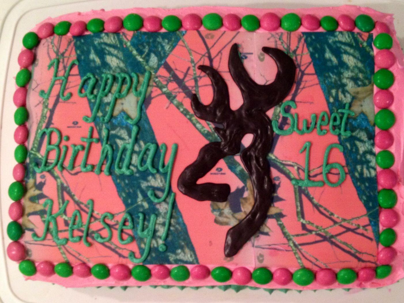 Kelseys sweet 16 pink mossy oak camo browning buckhead cake kelseys sweet 16 pink mossy oak camo browning buckhead cake biocorpaavc Images