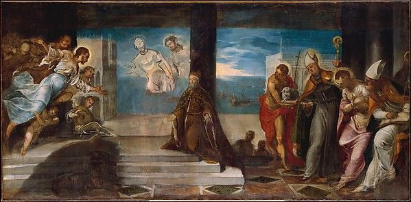 """Doge Alvise Mocenigo (1507–1577) Presented to the Redeemer"" by Jacopo Tintoretto"