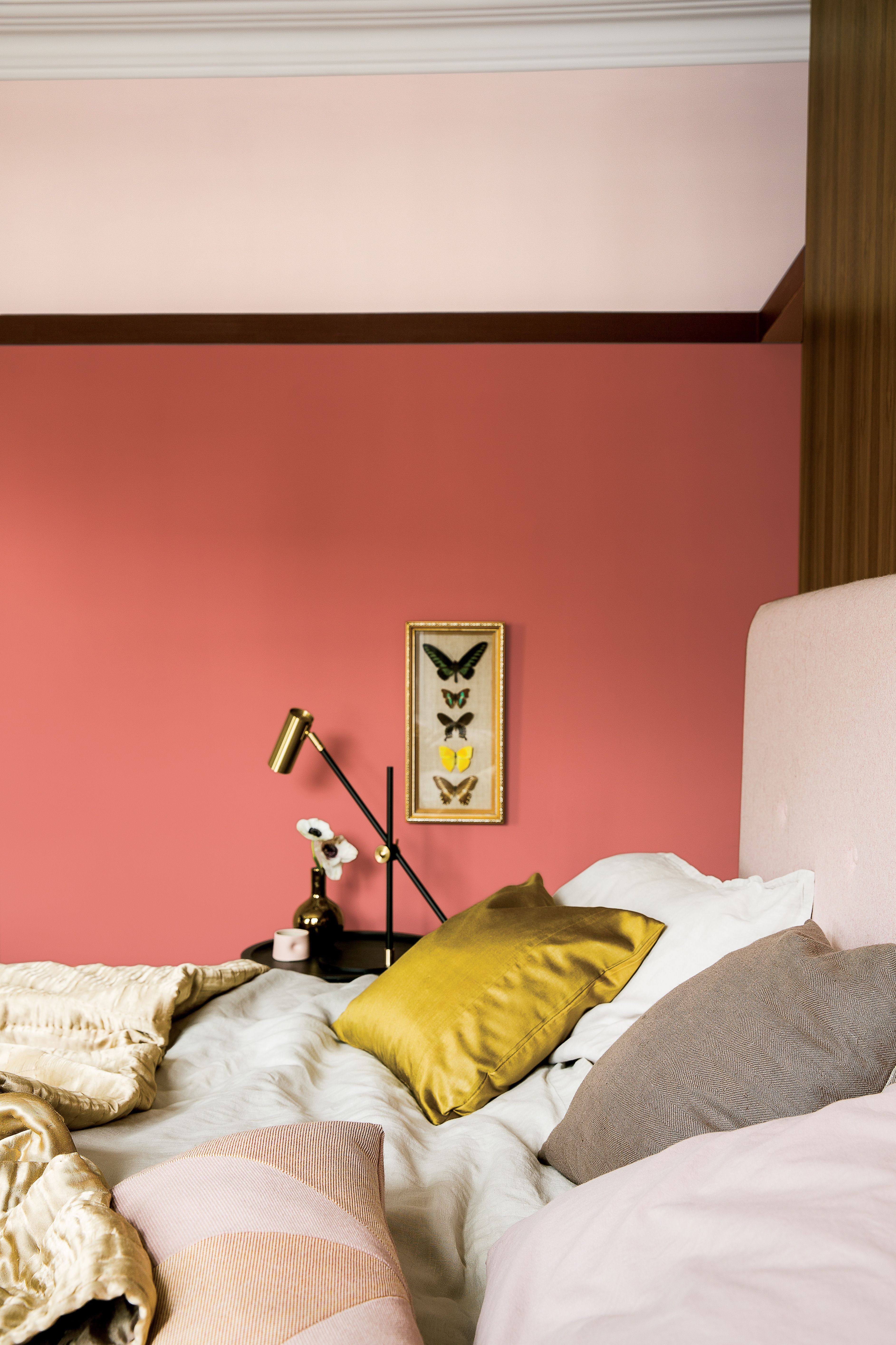 Schlafzimmer Modern Rot New Romantic In 2019 Schlafzimmer Wandfarbe Rot