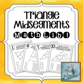 triangle midsegments math lib math triangles and activities. Black Bedroom Furniture Sets. Home Design Ideas