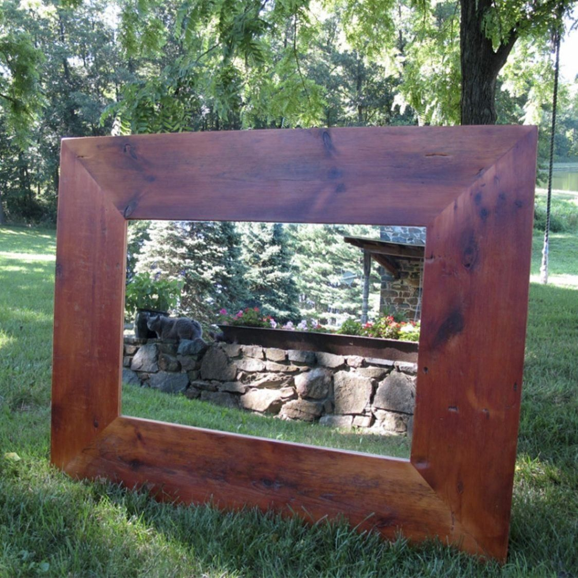 Superb Barn Wood Frame Mirror By Furniture From The Barn