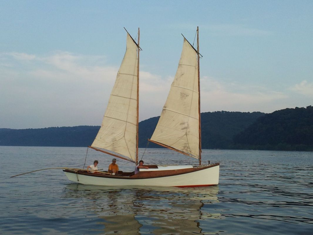 "An Egret sailing in the Chesapeake 2012 Length: 23' 8"" Beam: 6' Draft: 12"" board up, board down ..."