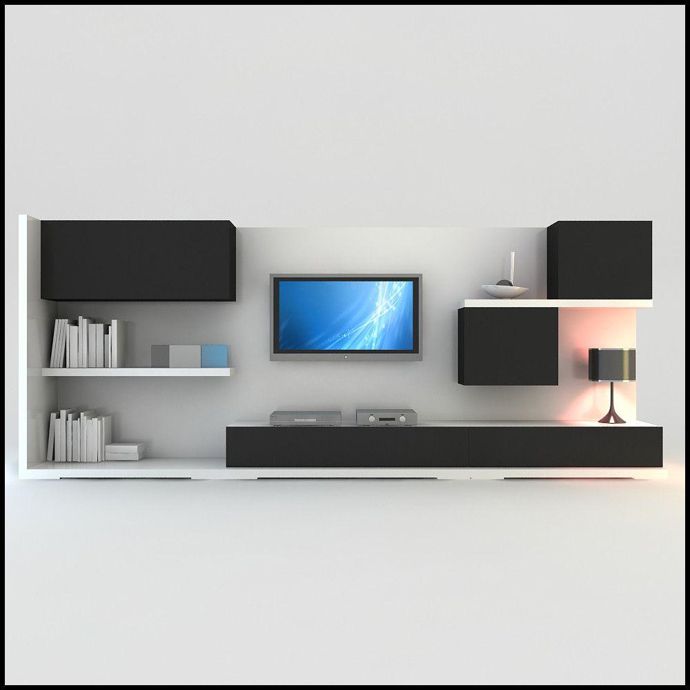 modern tv wall unit dwg | wall unit | pinterest | d, models and modern, Hause ideen