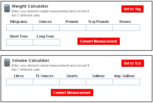 Use this calculator to convert weight measurements and volume measurements from UK to US values ...