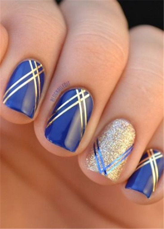 cool 30 Striped Nail Art Designs to Copy Now by http://www ...