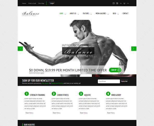gym #fitnesscenter #templates gym fitness center website templates - fitness templates free