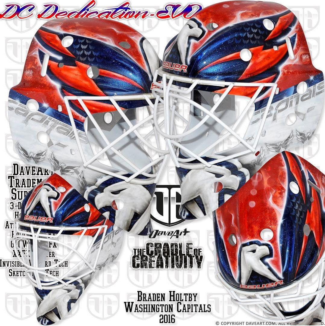 Braden Holtby S New Weagle Mask Hockey Mask Goalie Mask Braden Holtby