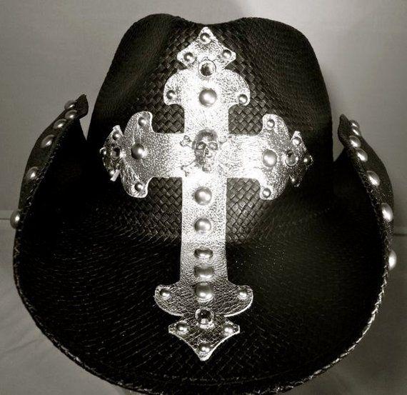 2399fd7858695 Handmade Custom Cowboy Hat with Skull and Crossbones
