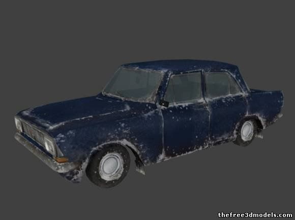 Old Car D Model Free CS D Real Time Animation Model - Old cars model