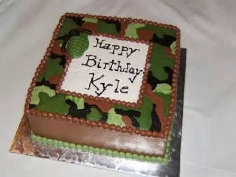 buttercream camo cake tutorial Google Search camo Pinterest