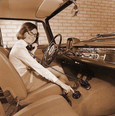 old school sexy car phone