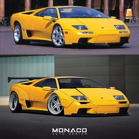 Before After Widebody Lamborghini Diablo I Ve Been Working On A