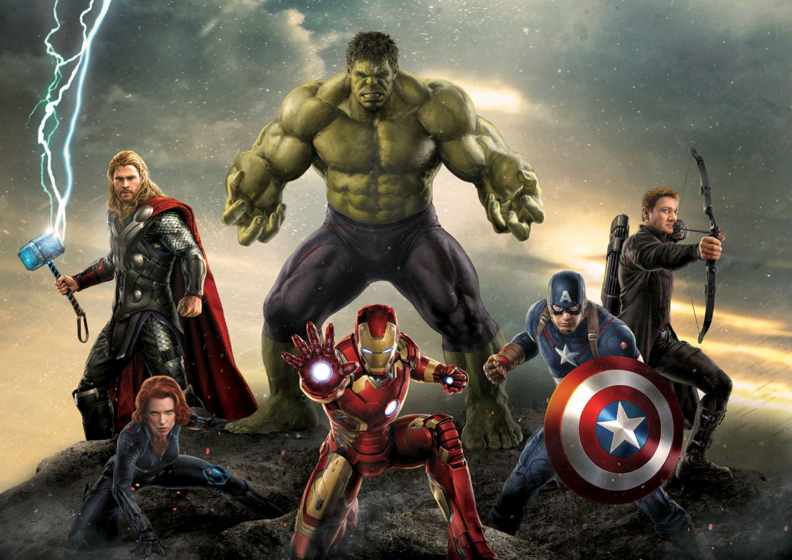 A4 A3 A2 A1 A0| Thor Marvel Avengers Digital Art Poster Print T590