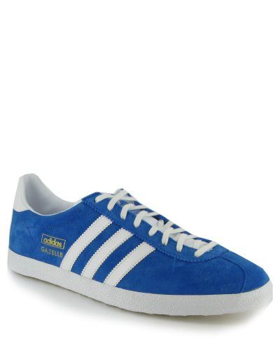 New Mens Adidas Gazelle OG Blue Suede Trainers  Amazon.co.uk  Shoes    Accessories 21472ce2d2